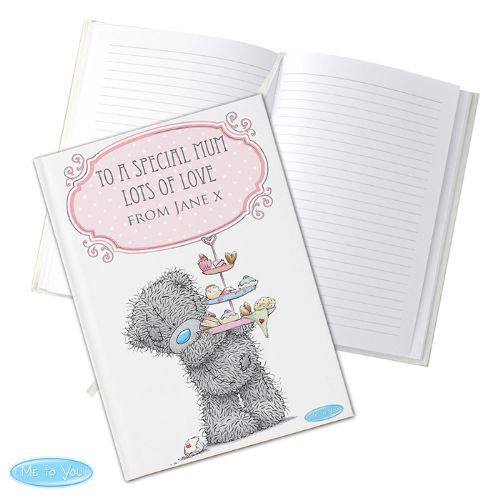 Personalised Me To You Cupcake Hard Back A5 Notebook